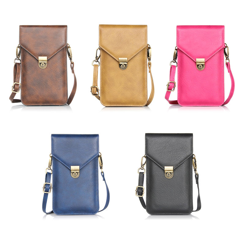 New Phone Bag Universal PU Leather Pouch Crossbody Small Bags for Samsung J1 mini ace J2 J3 J5 J7/On5 On7 E5 E7/Note 5 4 3 2