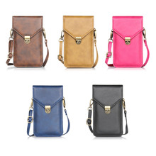 Phone Bag Universal PU Leather Pouch Crossbody Small Bags for Samsung Note 9 8 7 5 4 for iphone XS Max 8 7 6 6s plus