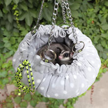 1pc Hamster Round Style Hanging House Hammock Sleeping Nest Pet Bed Rat Hamster Toys Cage Swing Pet New design For Small Animals(China)