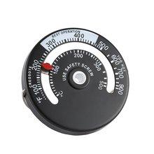 Тепловая печь для дровяного лога горящая плита горелка для камина термометр магнитная плита Топ трубный термометр датчик температуры