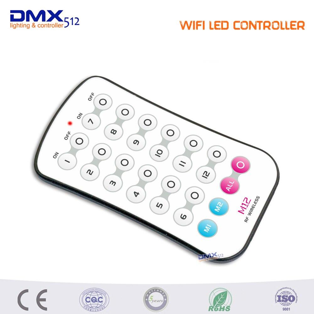 DHL Frete grátis LEVOU wi fi RGB mestre QUE controlador com M12 LEVOU remoto 2.4 GHz Wi Fi suporta max 12 zonas controle - 4