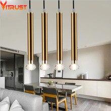 купить Modern Pendant Lights Lamps Hanglamp Creative Luminaire Hanging Lamp Copper Black White Dinning Room Bar Living Room abajurLight дешево