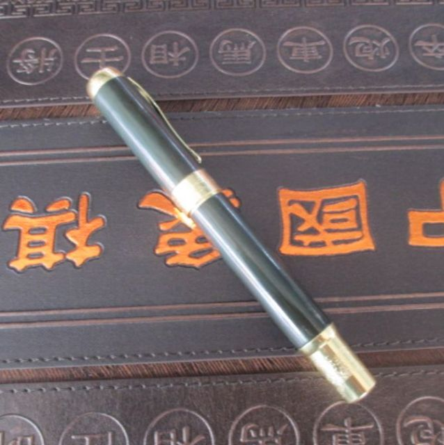 6 3 inch Elaborate Interesting Chinese manual sculpture hetian jade gold can use pen in Figurines Miniatures from Home Garden