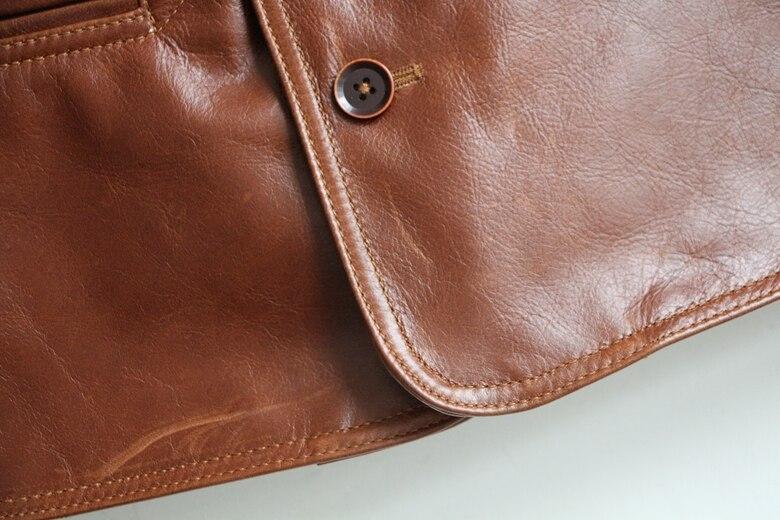HTB1WqafznJYBeNjy1zeq6yhzVXaW Free shipping,Brand men's 100% genuine leather Jackets,classic oil wax cow leather jacket,japan brakeman jacket.original