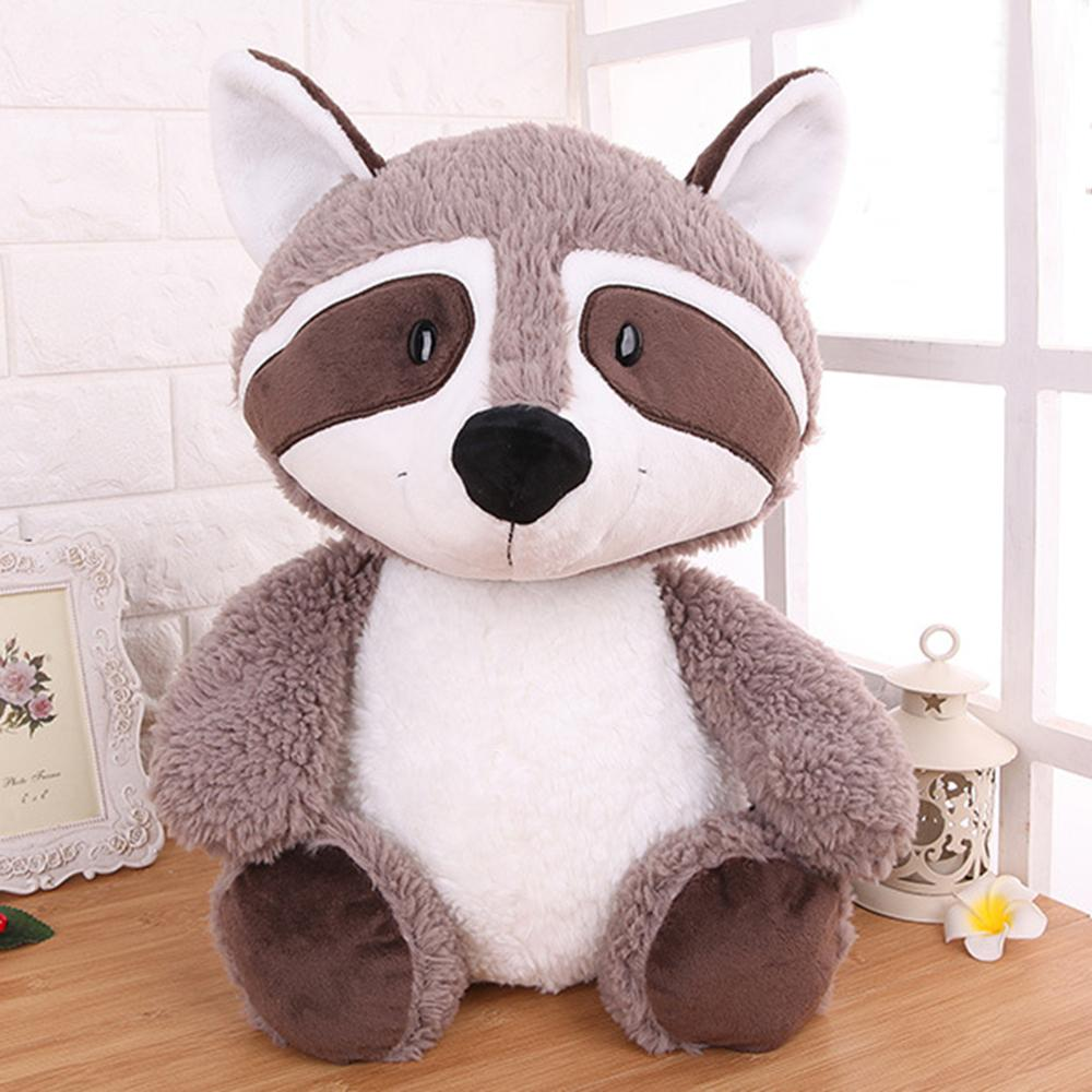 Image 4 - 25cm 35cm 55cm Gray Raccoon Plush Toy Lovely Cute Soft Stuffed Animals Doll Pillow For Girls Children Kids Baby Birthday Gift-in Stuffed & Plush Animals from Toys & Hobbies