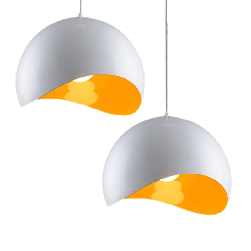 Modern Aluminum 1/3 lights Pendant Lamp Foyer Lamp Dining Room Pendant Light,White/black lamp shade+E27 LED Bulb Free shipping