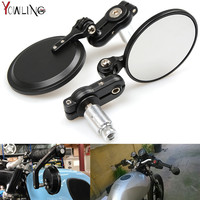 7 8 Universal Round Motorbike Motorcycle Handle Bar End Rearview Side Mirrors For Yamaha MT 07