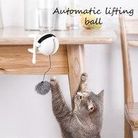Забавный котик-тизер, игрушка, подъемный мяч, Электрический флаттер, вращающийся, подъемный шар, интерактивный Кот, может играть самостояте...