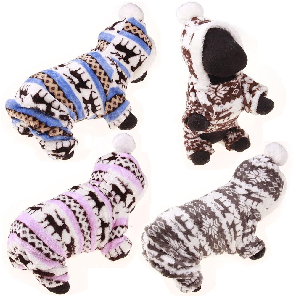 Designer puha téli meleg kutya ruhák kis kutyáknak ruhák téli szarvas pamut kölyök kutya pulóver kabát kabát kisállat ruhák