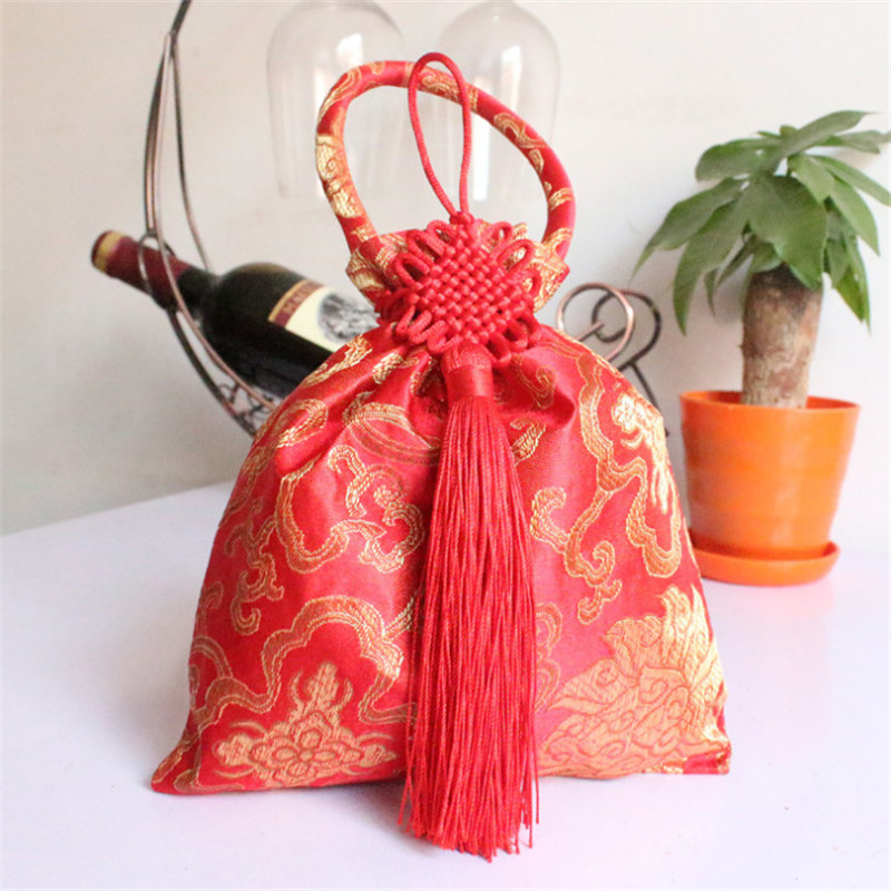 Wedding Gift Bag With Chinese Knot Creative Birthday Party House