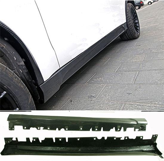 Углеродного волокна сбоку юбки 2 шт. Подходит для BMW F15 X5