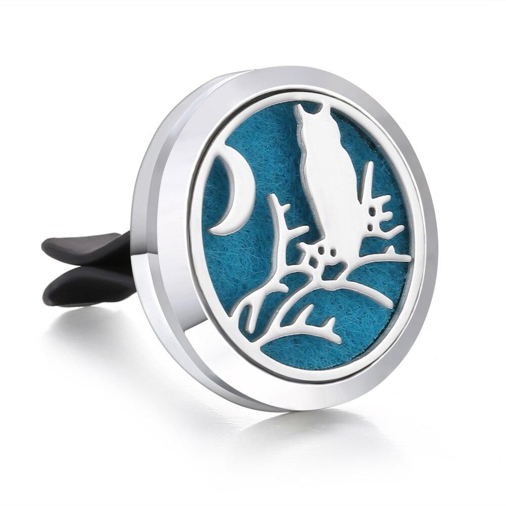 Ароматический диффузор ожерелье открытый медальон Подвеска для ароматерапии диффузор эфирного масла автомобильный освежитель воздуха автомобильный парфюмерный диффузор зажим - Окраска металла: 24