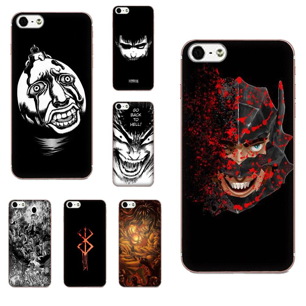 Für <font><b>Galaxy</b></font> Grand Alpha G850 Core2 Prime S2 I9082 A3 A5 A7 On5 On7 2015 2016 2017 TPU Protector <font><b>Cases</b></font> berserker <font><b>Anime</b></font> image