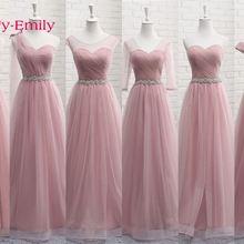 7fc474f4fb9 Tulle Lace Dark Pink Bridesmaid Dresses A line Wedding Party Prom Dresses  Vestido De Festa Party