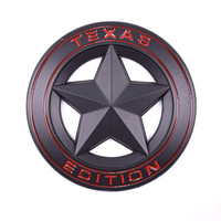 3D Metal TEXAS EDITION Black Pentagram Car Fender Side Tail Body Emblem Badge Sticker For JEEP