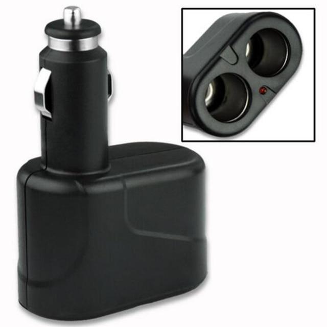 Dewtreetali Car Accessories 2 Way DC 12V Car Charger Cigarette Lighter Double Power Adapter Splitter Socket