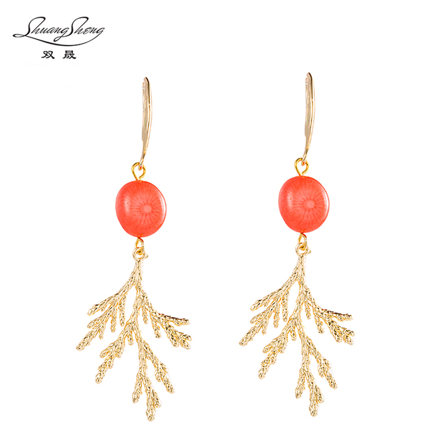 New Fashion Earrings Red C Beads Jewelry Elegant High End Women S Wedding