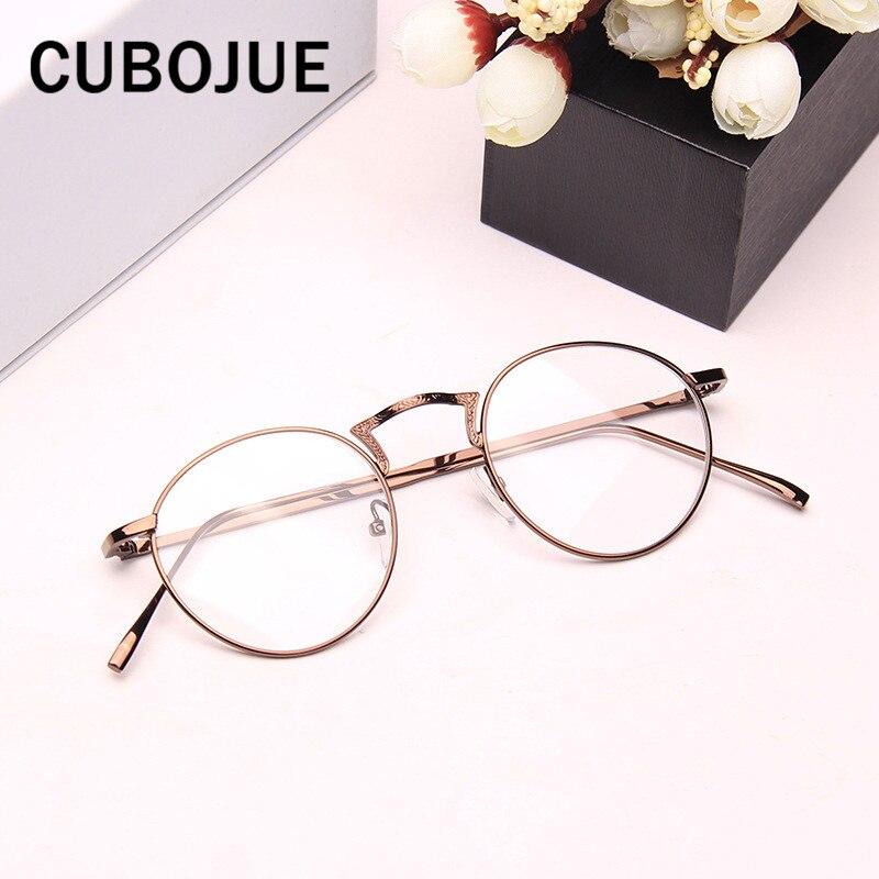 Cubojue Oval de la vendimia de la mujer gafas marco hombres Retro ...