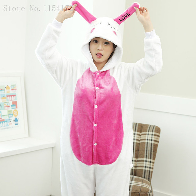 Кигуруми кролик аниме для взрослых Комбинезоны Пижама мультфильм животных  Косплэй Костюм Пижама для взрослых Комбинезоны пижамы 749e9c0d81eb2