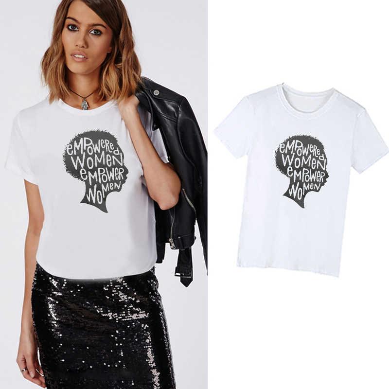 LUS LOS Güçlendirilmiş Güçlü Kadın Tırnak t shirt Kadın Empowerment Feminist Sanat Şimdi Yaz Moda Harajuku Streetwear