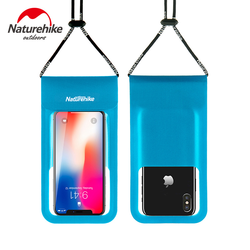 Naturehike Outdoor Swimming Phone Waterproof Bag TPU Lightweight Touch Screen Dry Bag For 4 inch - 6 inch 2 Sizes 31 to 36g
