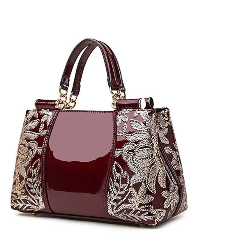 ebbd05c5b98f Click here to Buy Now!! Роскошная вышивка сумки женские роскошные Брендовые  женские сумки на плечо известные бренды искусственная кожа Сумочка дамы ...