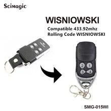 Wisniowski contrôleur de porte de garage électrique émetteur à distance compatible 433,92Mhz code roulant commande garage livraison gratuite