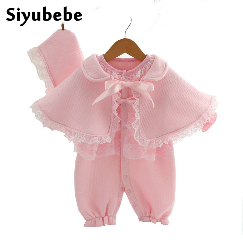 Baby Lace Rompers 3 Pieces Set New Infant Princess Style Party Dress Ropa Bebe Clothing Coveralls Newborn Baby Girl Clothes newborn baby rompers baby clothing 100% cotton infant jumpsuit ropa bebe long sleeve girl boys rompers costumes baby romper
