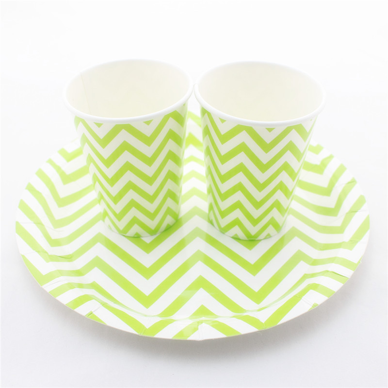 ipalmay 9 OZ Party Chevron Paper Cups and 9\  Round Paper Plate Wholesale for Various Parties-in Disposable Party Tableware from Home \u0026 Garden on ...  sc 1 st  AliExpress.com & ipalmay 9 OZ Party Chevron Paper Cups and 9\