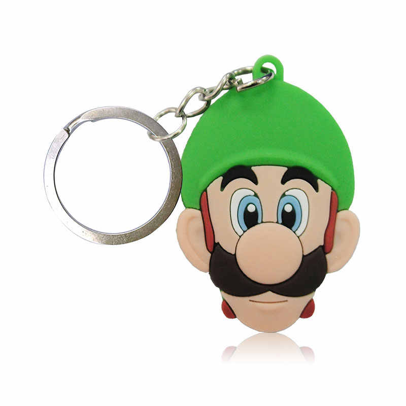 1 ADET Süper Mario PVC Anahtarlıklar Karikatür Figürü Anahtarlık Sevimli Anahtarlık Çocuk DIY Oyuncak Kolye Xmas Parti Hediyeler