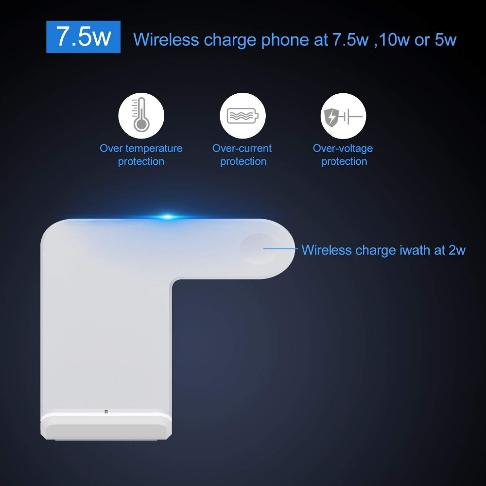 Image 3 - FDGAO Qi Wireless Charger For Apple Watch 5 4 3 2 iPhone 11 8 X Xs Max XR Samsung S9 S10 QC 3.0 USB Fast Wireless Charging StandMobile Phone Chargers   -
