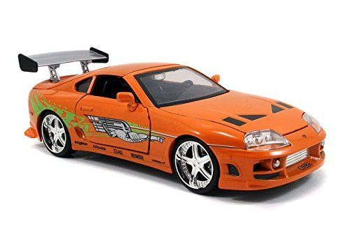 Jada 1:24 FAST & FURIOUS F8 Brian's Toyota Supra Diecast Model Racing Car NEW IN BOX
