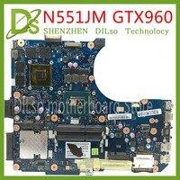 KEFU N551JM N551JW для ASUS N551JQ G551JW N551JM Материнская плата ноутбука i7 4720HQ Процессор PM GTX960 плата испытания