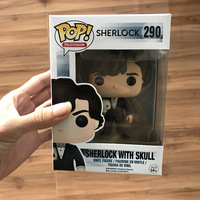 Exclusive Funko pop Official TV: Sherlock Sherlock With Skull Vinyl Figure Collectible Model Toy with Original Box