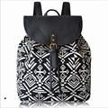 Women Fashion Canvas Backpacks Girls School Bags Geometric Printing National bolsas mochila feminina Large Travel Bag Sac A Dos