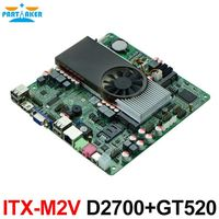 Slim Mini ITX Motherboard Atom D2700 with NVIDIA ION3 GT520 for IPC HTPC