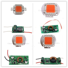 1Set 12V 10W 20W 30W 50W High Power COB LED lamp Chips cold white warm white,full spectrum with Driver