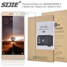 SIJIE Tempered Glass For XIAOMI REDMi 3 / Redmi 3S / Redmi 3X / Redmi 3 Pro 9H Screen Protector with Retail Package Hard BOX аксессуар защитное стекло для xiaomi redmi 3 redmi 3 pro 3s 3x solomon 7552