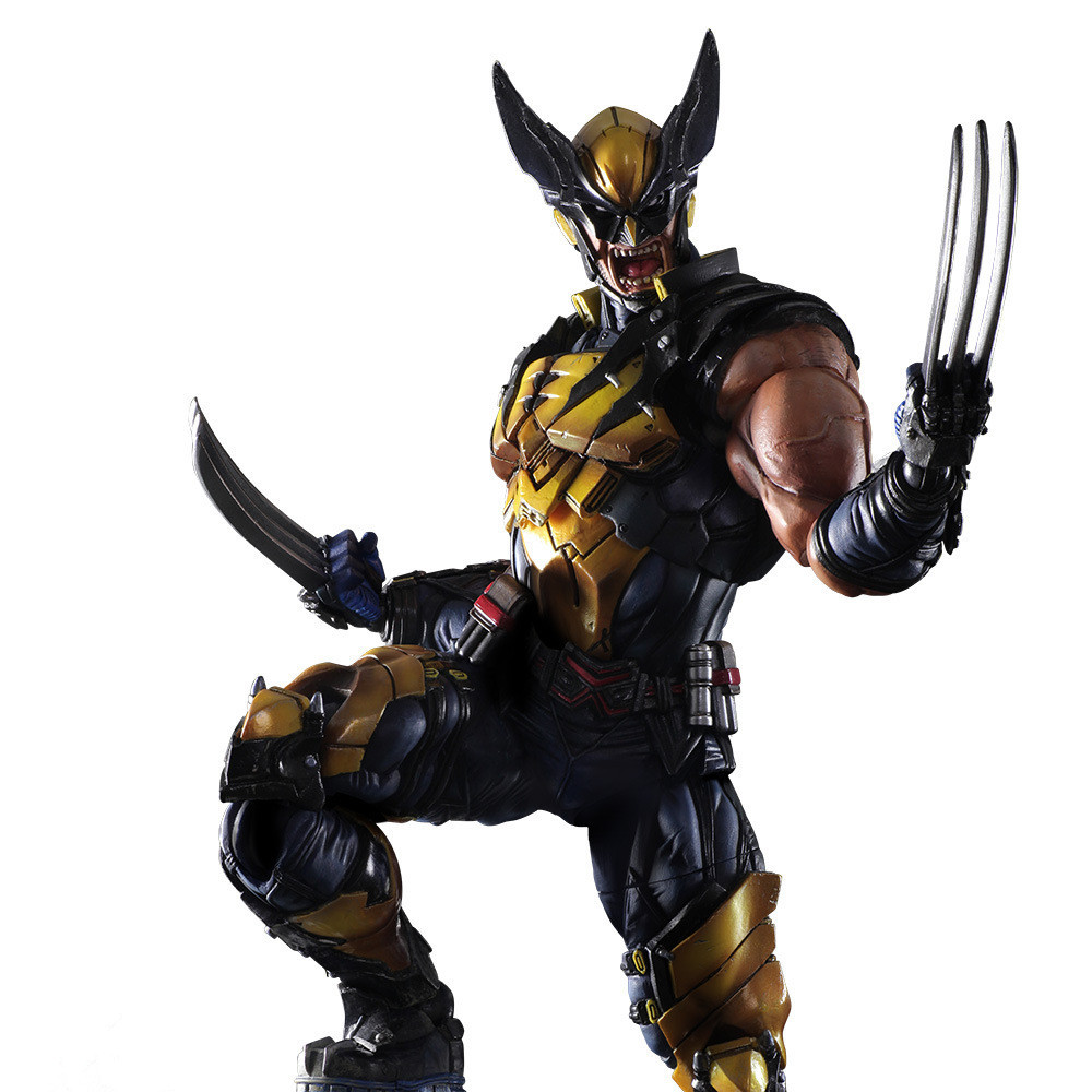 X-men Play Arts Kai Wolverine James Logan Howlett Figure Scale Painted Variant Anime Pvc action & toy figures Model Collection deadpool figure play arts kai wolverine x men x men play arts kai deadpool wade winston wilson pvc action figure 260mm doll toy