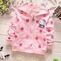 Primavera caricatura de bolinhas de algodão meninas casacos Cardigan crianças infantil crianças camisolas com capuz casacos casacos MT613