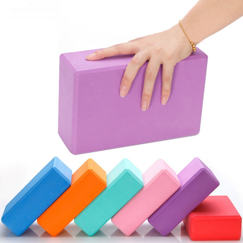 Women's Exercise Yoga Props Sports Fitness Yoga Blocks Foam Bricks Stretching Gym Pilates Props