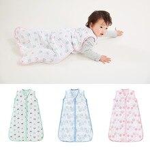 Infant Baby Sleeping Bag envelope for newborns 4 layers 100% Muslin Cotton 2 Zipper Sleepsacks Breathable Bedding Sacks