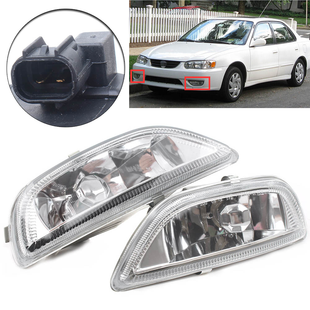 FOG LAMP LIGHT COVER W//O HOLE LEFT /& RIGHT PAIR SET FIT FOR 05-08 TOYOTA COROLLA