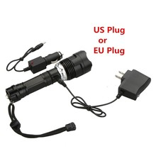 L2 Led Flashlight Zoomable CREE XM T6 Torch Portable 5mode Rechargeable Lamp Waterproof lantern +18650 battery and charger