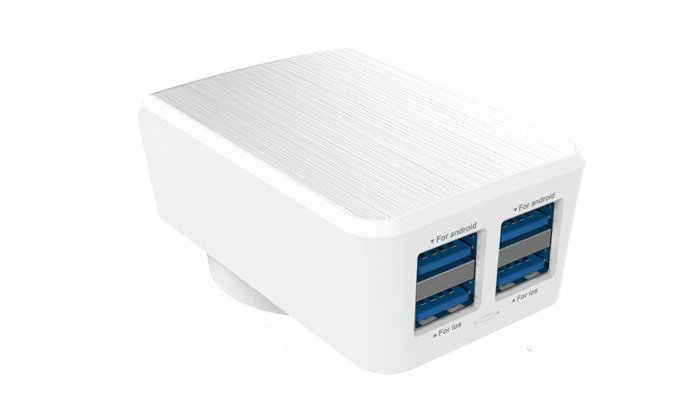 التخليص بيع 4 منافذ أوسب الذكية شاحن حائط سريع مع IOS تصحيح متزامن الحالي المطلوب ل فون بنك الطاقة