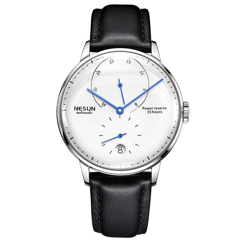 Luxury Brand Watch Men Nesun Automatic Mechanical Men's Watches Sapphire relogio masculino Genuine Leather Strap clock N9603-1