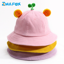 ZMAFOX children kids hats bucket sun helmet hat women sunscreen fisherman cap baby boy girl corduroy bernat summer outdoor visor