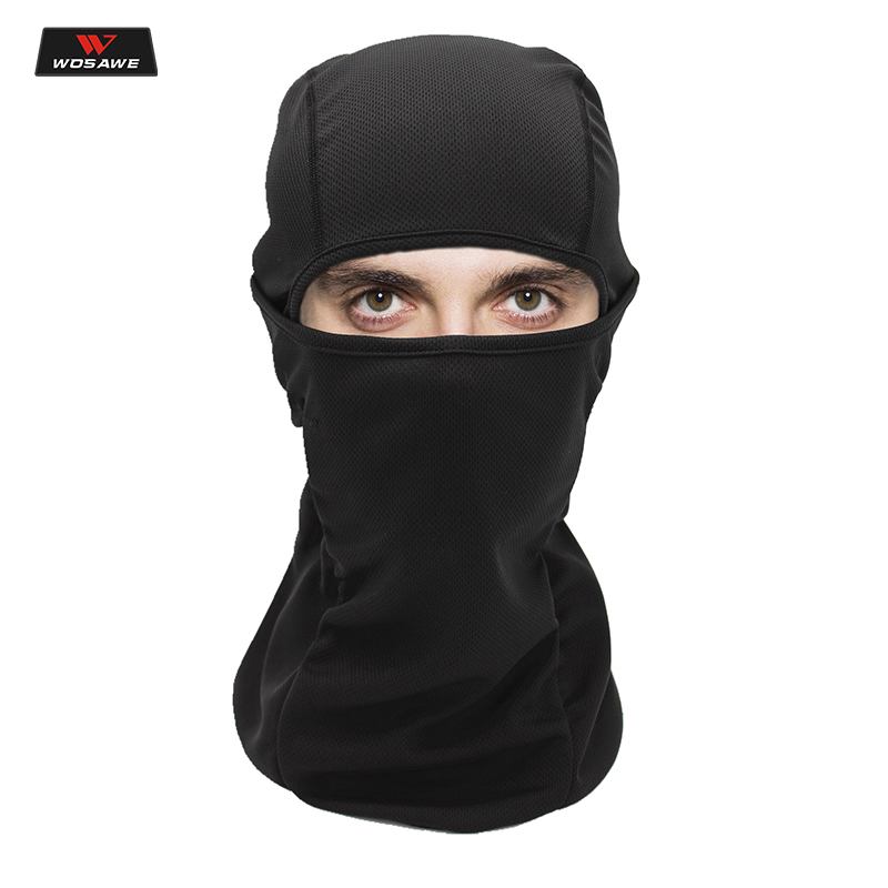 WOSAWE Motorcycle Balaclava Full Face Mask Windproof Dustproof подшлемник Paintball Helmet Liner Hood Ski Hiking Sport