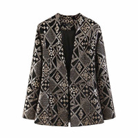 Womens Diamond Sequined Golden Blazers Ladies Velvet Blazer Plaid Jackets Women Style Beading Suits Female Tops Sets