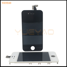 YUEYAO 100% Tested For iPhone 4 4S LCD With Touch Screen Digitizer Assembly Display Replacement